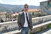 Stefano Calibre, mayor of Sant' Alessio in Aspromonte, a small village of 330 inhabitants in Calabria, southern Italy (AFP Photo/Andreas Solaro)