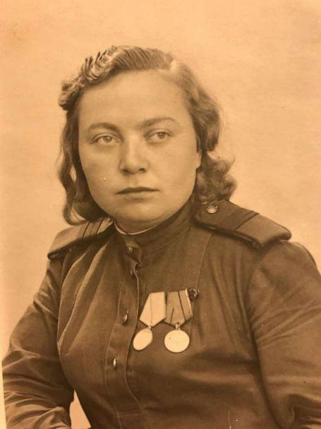 PHOTO: Zinaida Korneva is pictured in a photo taken when she was serving in the Soviet Union's anti-aircraft forces during World War II. (Courtesy zinastories.com)