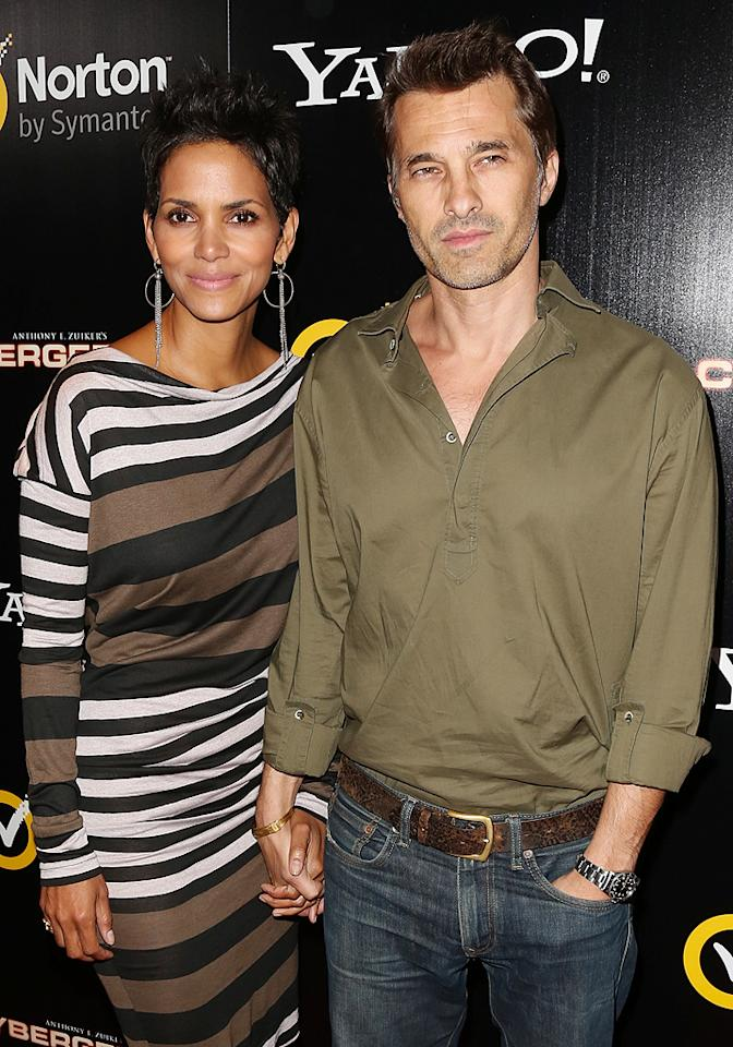 """<p class=""""MsoNormal"""">Halle Berry came out to support her fiancé Olivier Martinez at the premiere of his new Yahoo! online web series """"Cybergeddon,"""" held at the Pacific Design Center in West Hollywood, California, on Monday. The French-born actor plays cyber villain Gustov Dobreff, who is responsible for several debilitating digital attacks. (9/24/12)</p>"""