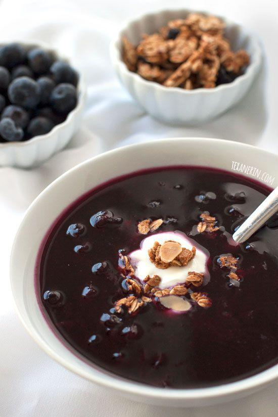 """<p>You'll be delighted by the sweet blueberry, maple syrup, and cinnamon combination featured in this unique recipe. </p><p><strong>Get the recipe at <a href=""""http://www.texanerin.com/healthier-swedish-blueberry-soup/#_a5y_p=3373797"""" rel=""""nofollow noopener"""" target=""""_blank"""" data-ylk=""""slk:Texanerin Baking"""" class=""""link rapid-noclick-resp"""">Texanerin Baking</a>.</strong> </p>"""