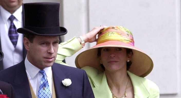 Andrew with Ghislaine Maxwell in 2000. (Getty Images)
