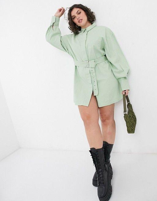"""<p><strong>Collusion</strong></p><p>us.asos.com</p><p><strong>$36.00</strong></p><p><a href=""""https://go.redirectingat.com?id=74968X1596630&url=https%3A%2F%2Fwww.asos.com%2Fus%2Fcollusion%2Fcollusion-plus-belted-shirt-mini-dress-in-green%2Fprd%2F20184697&sref=https%3A%2F%2Fwww.cosmopolitan.com%2Fstyle-beauty%2Ffashion%2Fg34729997%2Fhow-to-dress-aquarius-outfit-ideas%2F"""" rel=""""nofollow noopener"""" target=""""_blank"""" data-ylk=""""slk:Shop Now"""" class=""""link rapid-noclick-resp"""">Shop Now</a></p>"""