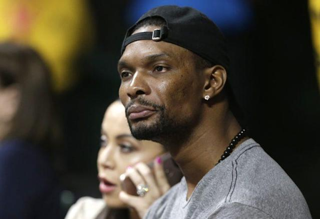 "Two-time NBA champion and 11-time All-Star <a class=""link rapid-noclick-resp"" href=""/nba/players/3707/"" data-ylk=""slk:Chris Bosh"">Chris Bosh</a> could be a free agent soon, but at what cost? (AP)"