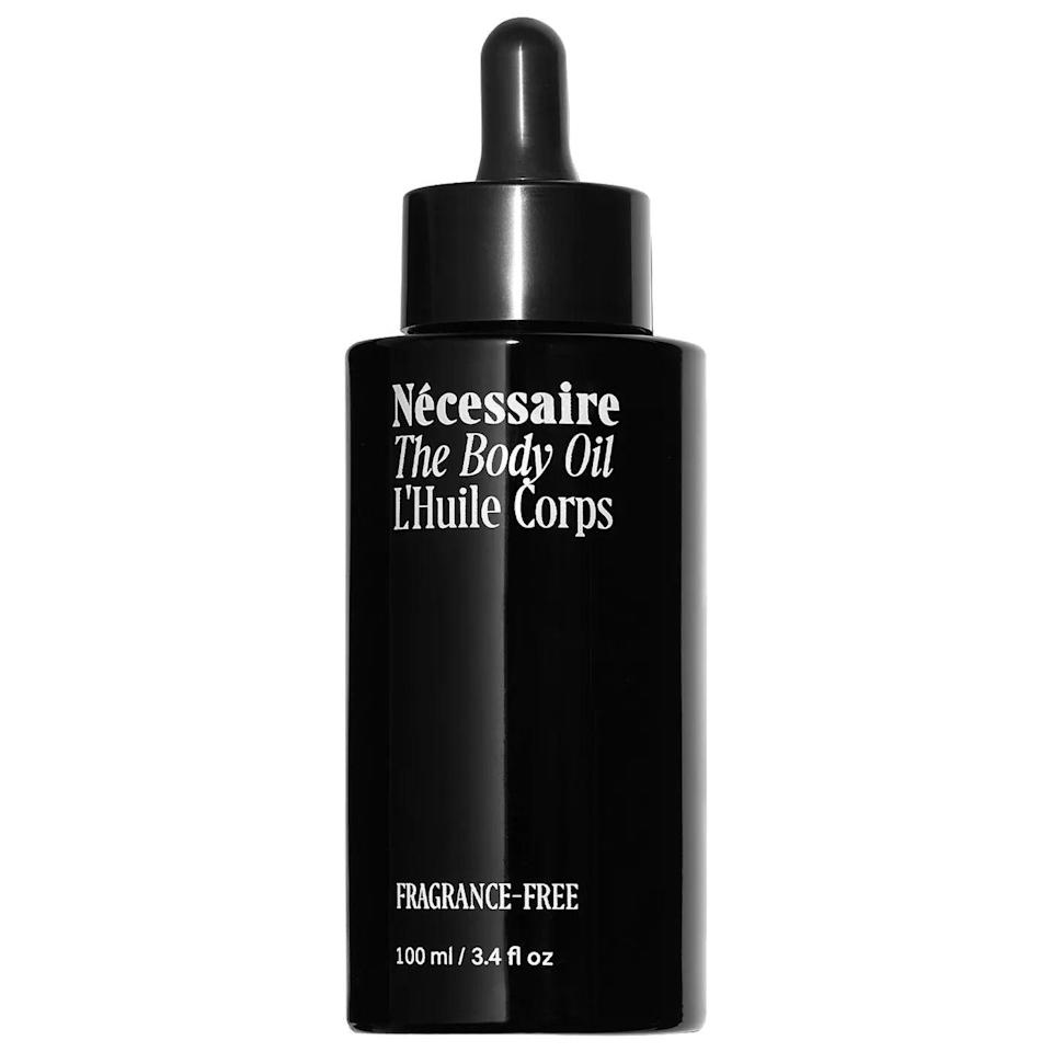 """<p><strong>Nécessaire</strong></p><p>sephora.com</p><p><strong>$35.00</strong></p><p><a href=""""https://go.redirectingat.com?id=74968X1596630&url=https%3A%2F%2Fwww.sephora.com%2Fproduct%2Fthe-body-oil-P474076&sref=https%3A%2F%2Fwww.womenshealthmag.com%2Fbeauty%2Fg37374736%2Fbest-body-oil%2F"""" rel=""""nofollow noopener"""" target=""""_blank"""" data-ylk=""""slk:Shop Now"""" class=""""link rapid-noclick-resp"""">Shop Now</a></p><p>The consistency and texture of this cold-pressed, vegan body oil set it apart from others on the market; it's not heavy or runny at all, and devotees rave about how quickly the product melts into and hydrates parched skin (even though the dropper could benefit from a redesign). Use this solo or team it up with your go-to body lotion. Because it's unscented, you can even try it as a base to give your favorite fragrance a little extra staying power.</p>"""