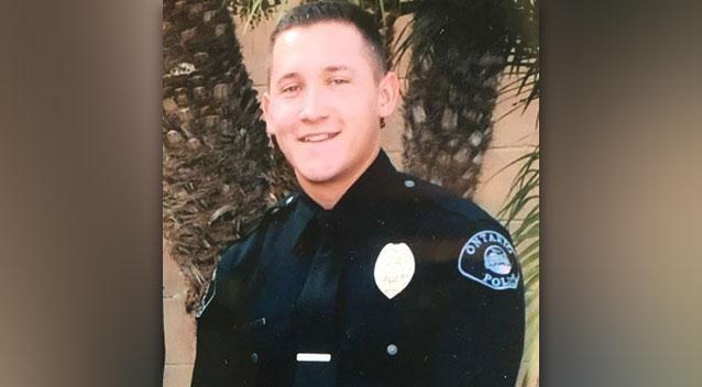 Michael Gracia has been a police officer at Ontario, California, for the past four years. Photo: Ontario Police Dept/Twitter