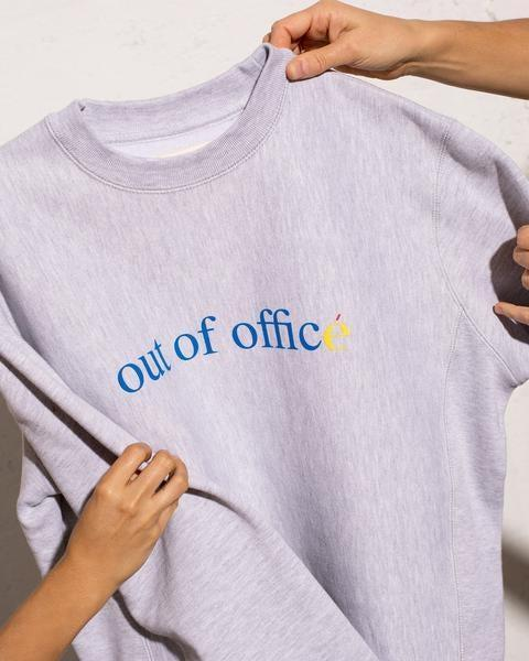 """This crewneck is a must in your WFH wardrobe. <br> <br> <strong>Éliou</strong> Out of Officé Sweater, $, available at <a href=""""https://go.skimresources.com/?id=30283X879131&url=https%3A%2F%2Fwww.eliou-eliou.com%2Fcollections%2Fall-products-excluding-route%2Fproducts%2Fout-of-office-sweater"""" rel=""""nofollow noopener"""" target=""""_blank"""" data-ylk=""""slk:Éliou"""" class=""""link rapid-noclick-resp"""">Éliou</a>"""