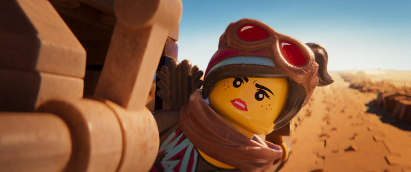 """This image released by Warner Bros. Pictures shows the character Lucy/Wyldstyle, voiced by Elizabeth Banks, in a scene from """"The Lego Movie 2: The Second Part."""" (Warner Bros. Pictures via AP)"""