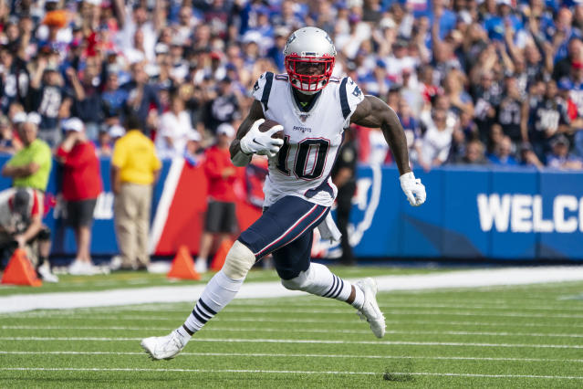 Patriots receiver Josh Gordon is due for a breakout performance against the Giants. (Photo by Gregory Fisher/Icon Sportswire via Getty Images)