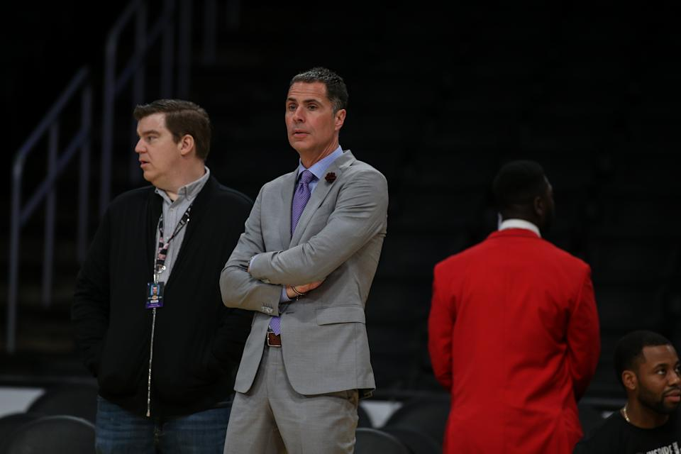 Los Angeles Lakers Rob Pelinka before the Milwaukee Bucks vs Los Angeles Lakers game on March 06, 2020, at Staples Center