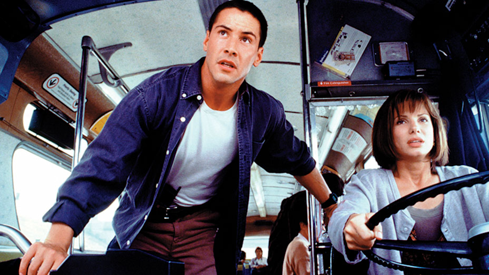 Keanu Reeves and Sandra Bullock in Speed (Credit: 20th Century Fox)