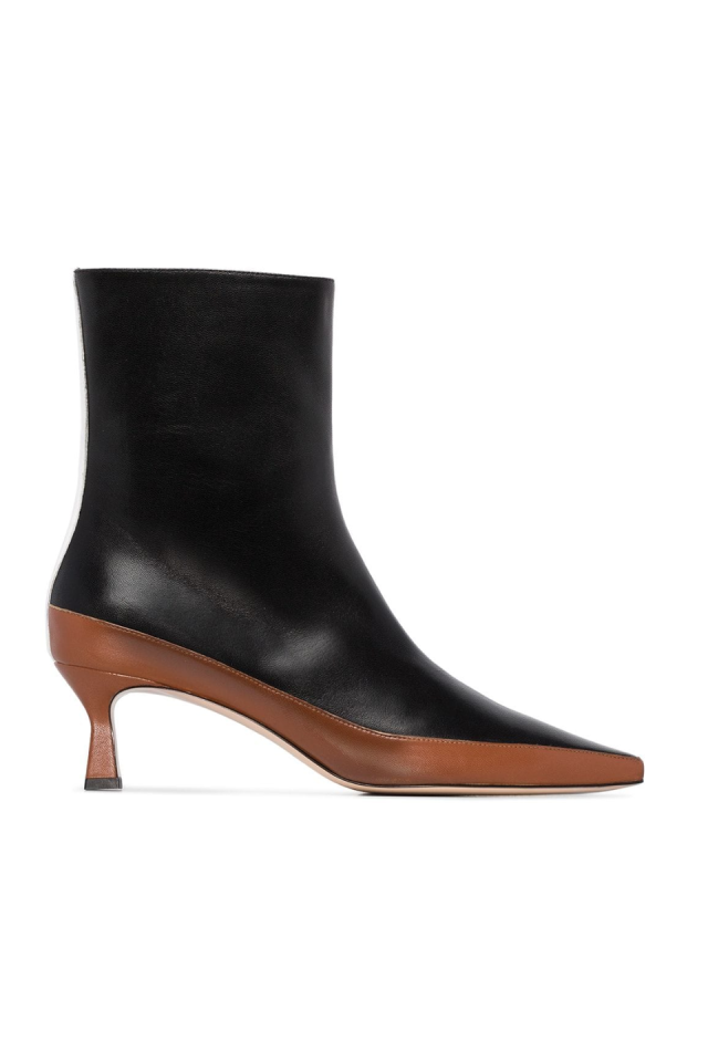 """<p>Established in 2017, Elza Wandler's namesake brand is mostly known for bags, but their boots are truly a hidden gem. With the best two-tone boot in the game, Wandler is winning.<strong><br><br>Our Pick:</strong><em> </em><em><a href=""""https://www.farfetch.com/shopping/women/wandler-bente-ankle-boots-item-14119527.aspx?fsb=1&size=25&storeid=9359&utm_source=google&utm_medium=cpc&utm_keywordid=119356561&utm_shoppingproductid=14119527-5156&pid=google_search&af_channel=Search&c=2069920048&af_c_id=2069920048&af_siteid=&af_keywords=aud-369354889807:pla-384855391828&af_adset_id=75217628534&af_ad_id=204345266761&af_sub1=119356561&af_sub5=14119527-5156&is_retargeting=true&shopping=yes&gclid=Cj0KCQiA-4nuBRCnARIsAHwyuPqKDkLIuxkBCkdvchxEWgdaKIzSlZJ1M6HI8lv5uxKCttEjb55LybwaApejEALw_wcB"""" target=""""_blank"""">Wandler bente ankle boot, $645</a> </em>(pictured)</p>"""
