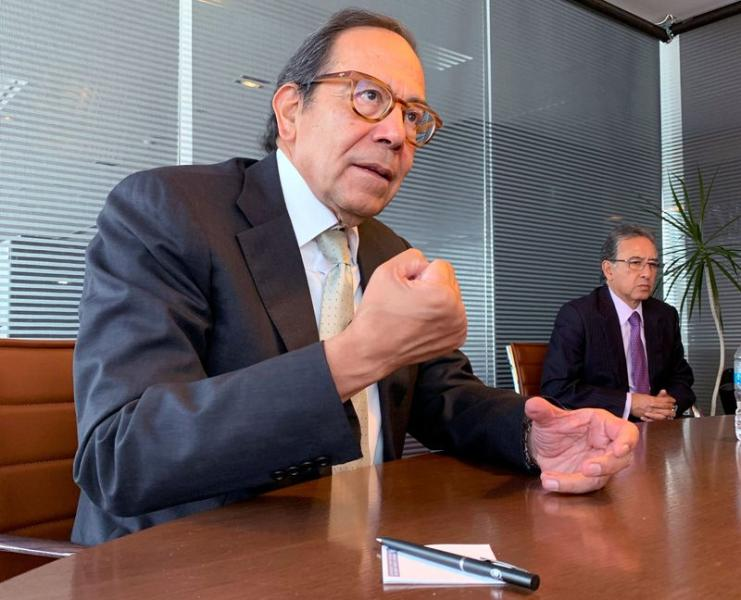 President of Business Coordinating Council (CCE) Carlos Salazar attends an interview with Reuters, in Mexico City