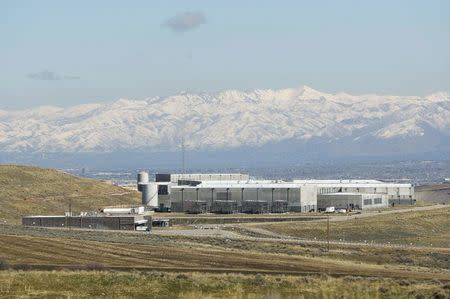 The National Security Agency (NSA) data center is seen after construction was completed in Bluffdale, Utah