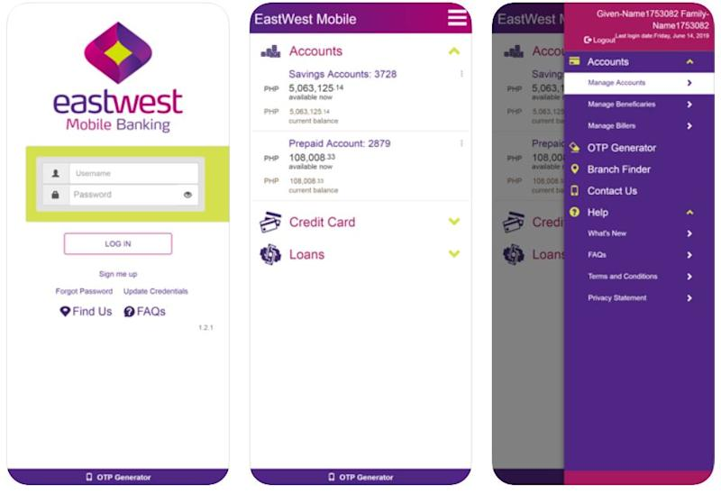 mobile banking apps - eastwest mobile