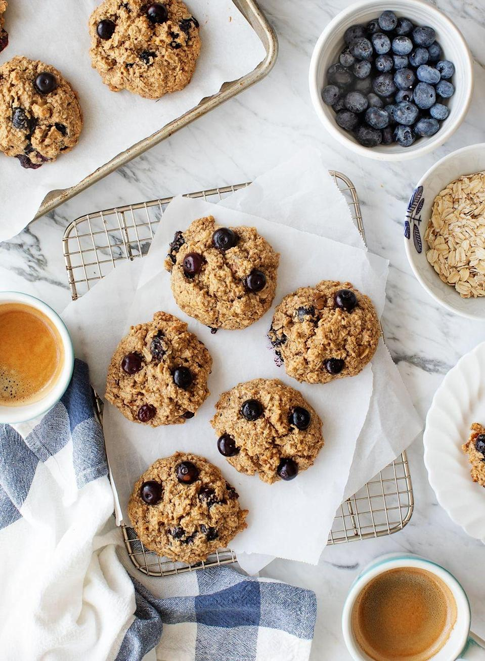 """<p>Cookies for breakfast? We're sold! These are vegan, gluten-free, and dairy-free, but they're also full of flavor thanks to almond butter, cinnamon, and maple syrup.</p><p><strong>Get the recipe at <a href=""""https://www.loveandlemons.com/oatmeal-breakfast-cookies/"""" rel=""""nofollow noopener"""" target=""""_blank"""" data-ylk=""""slk:Love and Lemons"""" class=""""link rapid-noclick-resp"""">Love and Lemons</a>.</strong></p><p><strong> <a class=""""link rapid-noclick-resp"""" href=""""https://go.redirectingat.com?id=74968X1596630&url=https%3A%2F%2Fwww.walmart.com%2Fsearch%2F%3Fquery%3Dsheet%2Bpan&sref=https%3A%2F%2Fwww.thepioneerwoman.com%2Ffood-cooking%2Fmeals-menus%2Fg34922086%2Fhealthy-breakfast-ideas%2F"""" rel=""""nofollow noopener"""" target=""""_blank"""" data-ylk=""""slk:SHOP SHEET PANS"""">SHOP SHEET PANS</a><br></strong></p>"""