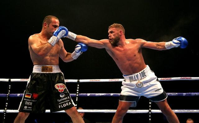 Billy Joe Saunders, right, has not fought in 13 months (Paul Harding/PA)