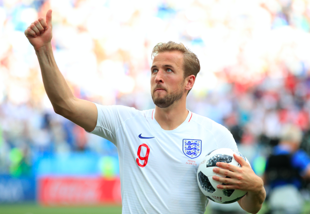 England captain Harry Kane with the match ball after his hat-trick in his side's 6-1 win over Panama (Picture: PA)