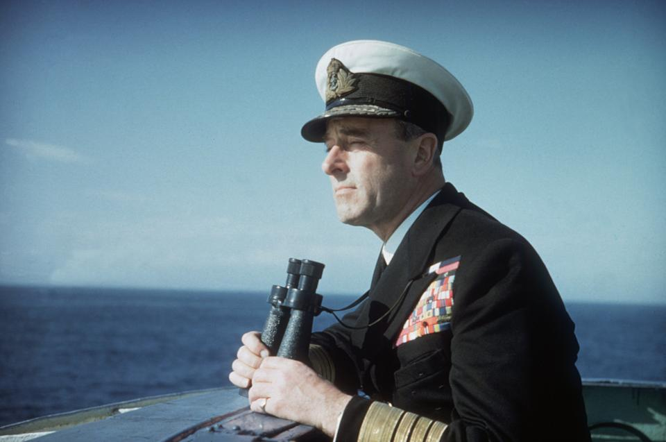 Lord Mountbatten, Commander of the Mediterranean Fleet, on naval exercises at Malta and Gibraltar in 1956Photo by Hulton Archive/Getty Images