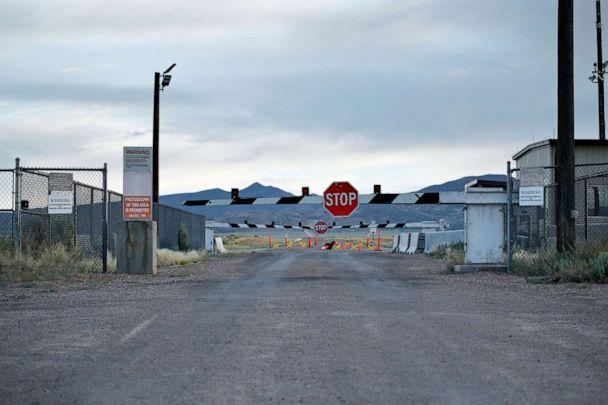 PHOTO: Signs warn about trespassing at an entrance to the Nevada Test and Training Range near Area 51 outside of Rachel, Nev. (John Locher/AP, FILE)