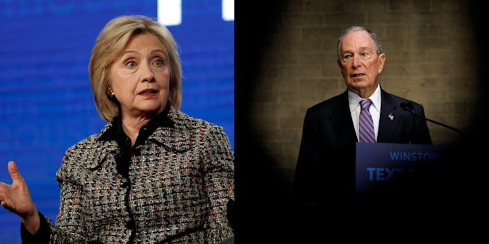 Matt Drudge claimed that Bloomberg was considering Hillary Clinton for his running mate.