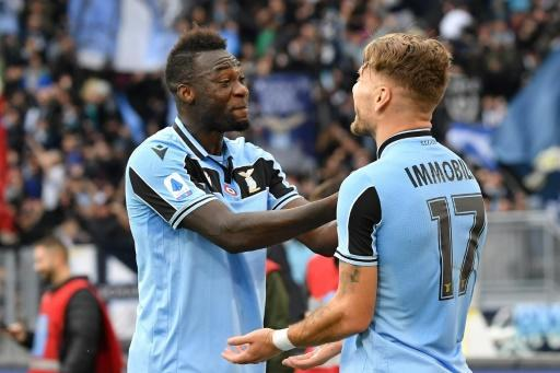 Immobile (R) and Caicedo have scored 33 league goals between them this term