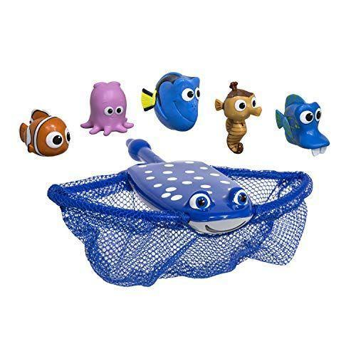 """<p><strong>SwimWays</strong></p><p>amazon.com</p><p><strong>$9.99</strong></p><p><a href=""""https://www.amazon.com/dp/B0171TRGTA?tag=syn-yahoo-20&ascsubtag=%5Bartid%7C2089.g.1428%5Bsrc%7Cyahoo-us"""" rel=""""nofollow noopener"""" target=""""_blank"""" data-ylk=""""slk:Shop Now"""" class=""""link rapid-noclick-resp"""">Shop Now</a></p><p>Learn how to speak whale with this <em>Finding Dory </em>net game. Your kids can use Mr. Ray's giant manta ray wings to catch Nemo, Dory, and pals — even in a small swimming pool. This game is perfect for toddlers who need something easy yet stimulating.</p>"""
