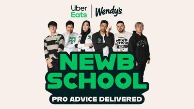 Grab Your Notebooks: Wendy's and Uber Eats Are Welcoming Fans into Newb School
