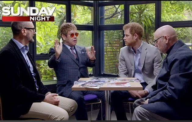 , Elton appeared on anITVdocumentary,Diana, Our Mother: Her Life and Legacy, with Prince Harry back in July, talking about the impact Diana had on the world. Photo: Channel 7
