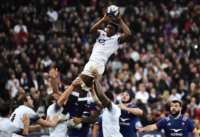 Maro Itoje has had a busy last year with club, country and the British and Irish Lions (AFP Photo/CHRISTOPHE SIMON)