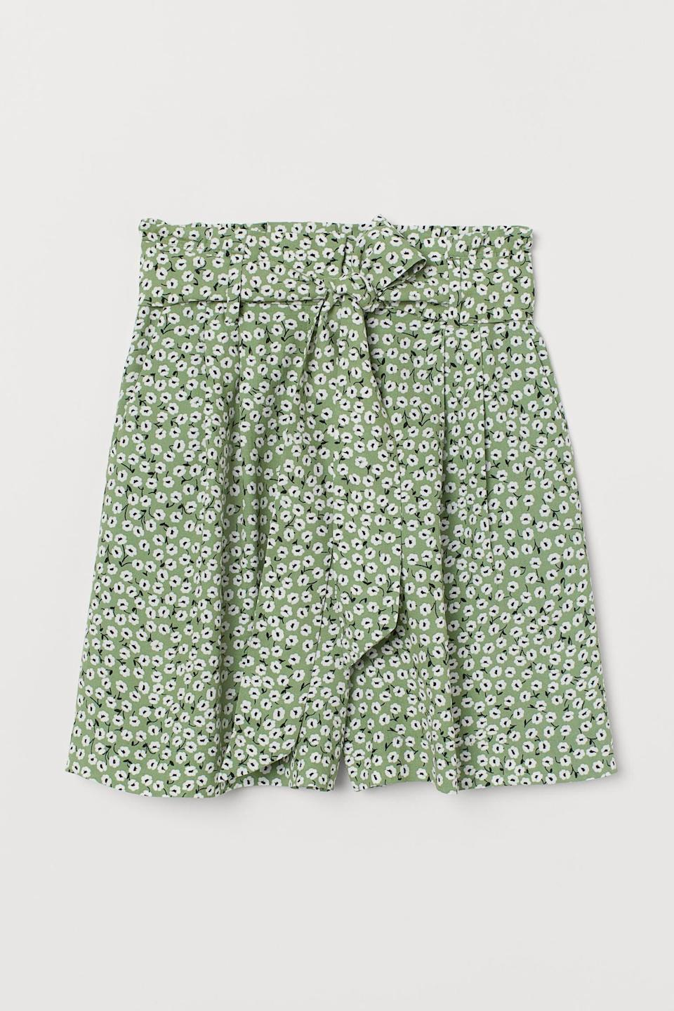 <p>These embellished <span>Tie-belt Shorts</span> ($25) are the ideal spring choice for park hangs.</p>