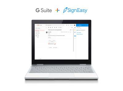 Access SignEasy within G Suite by installing the Add-on from the G Suite Marketplace