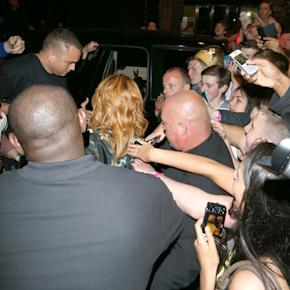 Rihanna Parties Into The Early Hours In Rude T-Shirt Following Ireland Gig (PHOTOS)
