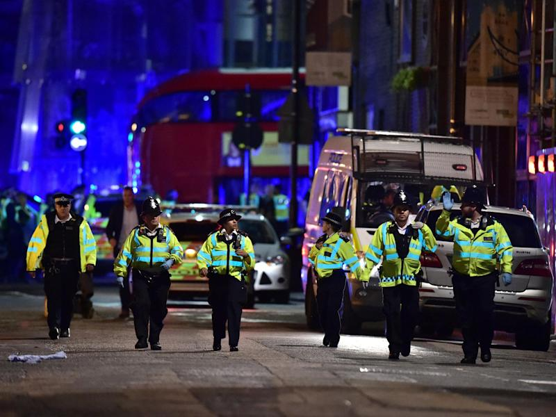 The dramatic increase in terror arrests was sparked by operations following the Westminster, Manchester, London Bridge, Finsbury Park and Parsons Green attacks: PA