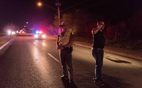 Texas troopers take security measures near the site of an explosion in Austin - Credit: Anadolu Agency/Getty