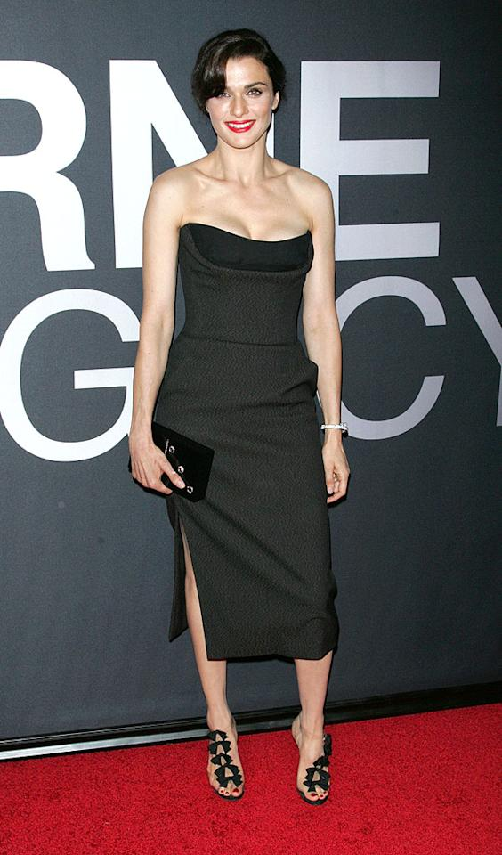 "Yes, the Christian Dior bustier dress, Bulgari diamond bracelet, and Charlotte Olympia clutch Rachel Weisz sported at the <a target=""_blank"" href=""http://movies.yahoo.com/movie/bourne-legacy/"">""Bourne Legacy""</a> premiere are luxe, but this outfit is all about her $1,200 Christian Louboutin ""Bow Bow"" T-strap sandals. To. Die. For! (7/30/2012)<br><br><a target=""_blank"" href=""http://bit.ly/lifeontheMlist"">Follow 2 Hot 2 Handle creator, Matt Whitfield, on Twitter!</a>"