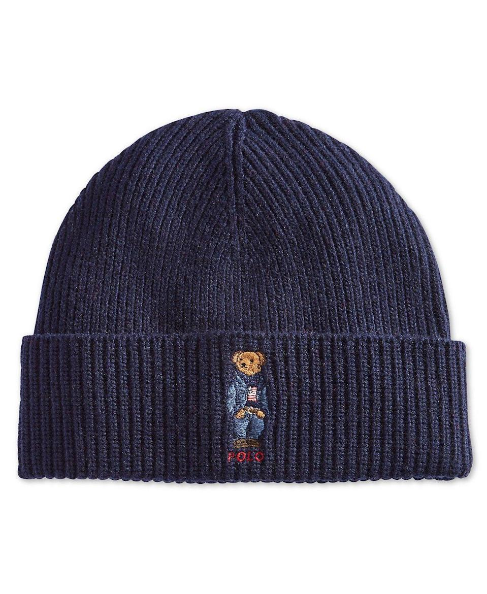 """<p><strong>Polo Ralph Lauren</strong></p><p>macys.com</p><p><strong>$55.00</strong></p><p><a href=""""https://go.redirectingat.com?id=74968X1596630&url=https%3A%2F%2Fwww.macys.com%2Fshop%2Fproduct%2Fpolo-ralph-lauren-mens-polo-bear-blue-jean-jacket-cuffed-hat%3FID%3D6635680&sref=https%3A%2F%2Fwww.seventeen.com%2Flife%2Ffriends-family%2Fg1088%2Fholiday-gifts-for-dad%2F"""" rel=""""nofollow noopener"""" target=""""_blank"""" data-ylk=""""slk:Shop Now"""" class=""""link rapid-noclick-resp"""">Shop Now</a></p><p>To help cover his growing bald spot.</p>"""