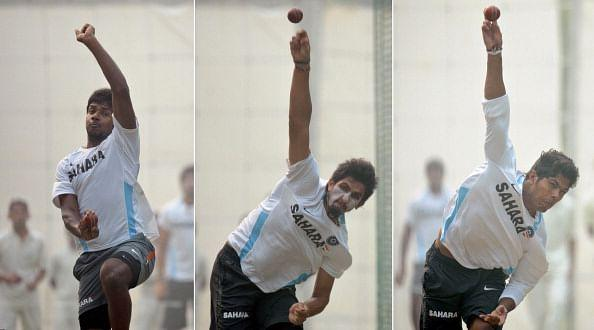 Varun Aaron, Ishant Sharma and Umesh Yadav
