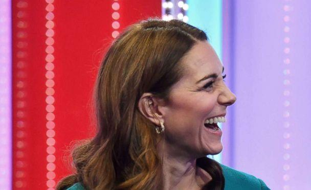 PHOTO: Britain's Catherine, Duchess of Cambridge and Prince William, laugh as they visit BBC Broadcasting House in London, Nov. 15, 2018. (Ben Stansall/Pool via Reuters)
