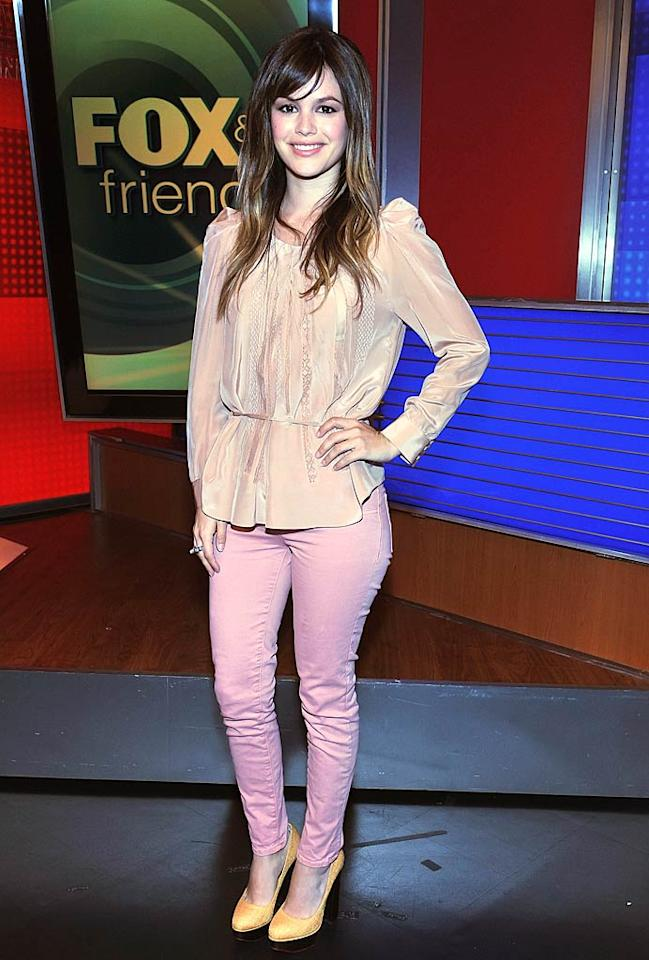"""Last, but certainly not least ... actress Rachel Bilson, who made the mistake of pairing a $545 peach Vanessa Bruno blouse with pink J Brand jeans and orange Charlotte Olympia pumps. Sorry, but this color combo just isn't working.   Follow What Were They Thinking?! creator, <a href=""""http://bit.ly/lifeontheMlist"""" target=""""new"""">Matt Whitfield</a>, on Twitter! Slaven Vlasic/<a href=""""http://www.gettyimages.com/"""" target=""""new"""">GettyImages.com</a> - April 20, 2011"""