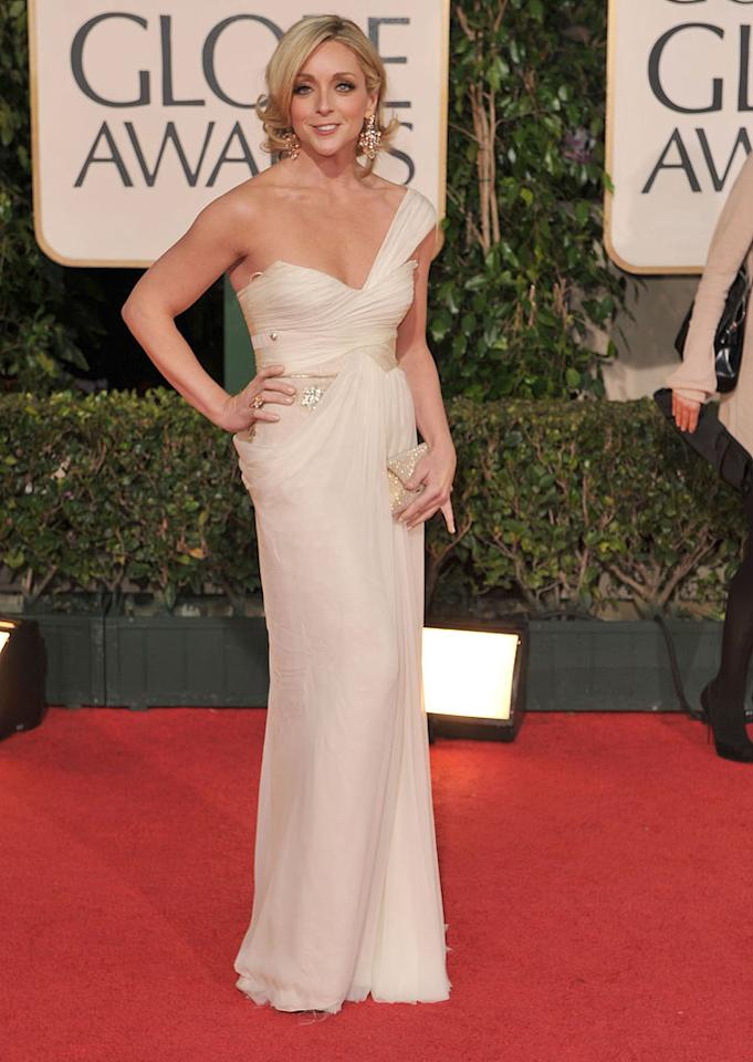 "Jane Krakowski (""30 Rock"") wowed the crowd in her cream-colored one-shoulder gown. Steve Granitz/<a href=""http://www.wireimage.com"" target=""new"">WireImage.com</a> - January 11, 2009"
