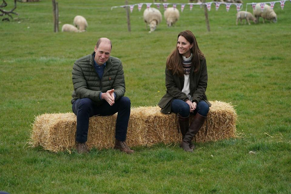 <p>The same day, the Duke and Duchess of Cambridge paid a visit to Manor Farm in Little Stainton, which is near Durham in northeast England. </p>