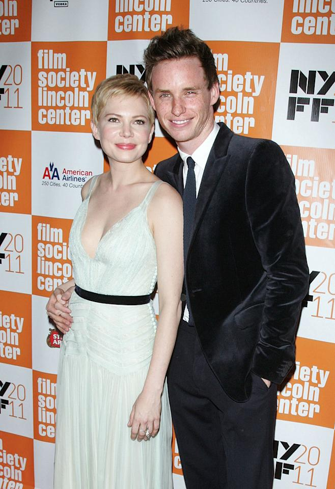 "<a href=""http://movies.yahoo.com/movie/contributor/1800018861"">Michelle Williams</a> and <a href=""http://movies.yahoo.com/movie/contributor/1809675503"">Eddie Redmayne</a> at the New York Film Festival premiere of <a href=""http://movies.yahoo.com/movie/1810178830/info"">My Week with Marilyn</a> on October 9, 2011."