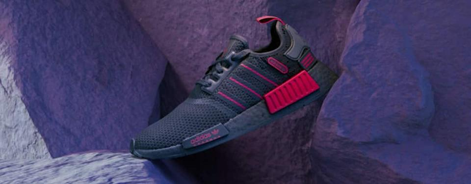 NMD_R1 SHOES black core red on purple rocks