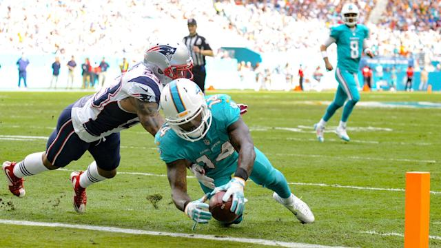 Dolphins wide receiver Jarvis Landry predicted his team would sweep its two games against the Patriots this season.