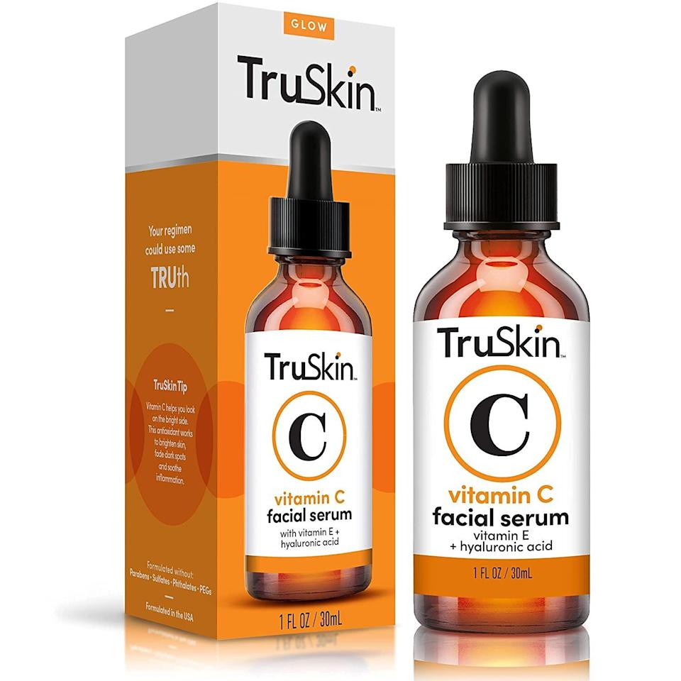 """This may help brighten and firm skin and help reduce pores and redness, pulling out all the stops that even expensive chemical peels and facials might not be able to compete with.<br /><br /><strong>Promising review</strong>: """"I bought this because I heard it worked well to use after derma rolling.<strong>This serum really helps to tighten your skin! I've used it for about two weeks now.</strong>I have an oily T-zone, and it dried my skin out in that area after about four days — to the point where my skin was flaky. I decided to alternate with a moisturizer for the day and to use this stuff at night, and now my skin looks amazing. I can't tell you how much I've tried and spent over the years trying to shrink my pores as I have always been self-conscious about my sebaceous filaments on my nose and cheeks.<strong>I've done chemical peels, facials, enzyme scrubs, you name it. I've come to terms with using face primer to spackle over them LOL. Within 10 days they've pretty much all dried up!</strong>I totally didn't expect this result and couldn't be more thrilled. I examine my skin in the mirror closely each time I go into the bathroom. Seriously.<strong>This morning I woke up and my skin looked so good that I was upset with myself for a second about falling asleep with my makeup on, and then I remembered that I did wash my face. My skin just looks even and fresh now!</strong>Freaking crazy. This serum is absolute gold. Just make sure to not put it around your eyes as it will dry them out big time, and if your skin gets too dry, alternate with a moisturizer (I recommend their vitamin C moisturizer)."""" —<a href=""""https://www.amazon.com/gp/customer-reviews/R28LCQSXHC5TK6?&linkCode=ll2&tag=huffpost-bfsyndication-20&linkId=50f4c07a0d3a00612925c6a986cc3fec&language=en_US&ref_=as_li_ss_tl"""" target=""""_blank"""" rel=""""noopener noreferrer"""">Dana Morningstar</a><br /><br /><strong>Get it from Amazon for <a href=""""https://www.amazon.com/dp/B01M4MCUAF?&linkCode=ll1&tag=huffpost-bfsyndicatio"""