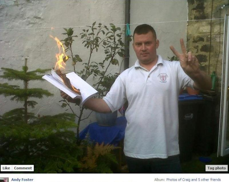 <strong>Andrew Foster, who is said to be burning the Quran</strong> (Photo: Facebook)