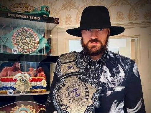 <p>Tyson Fury paid tribute to The Undertaker</p>WWE