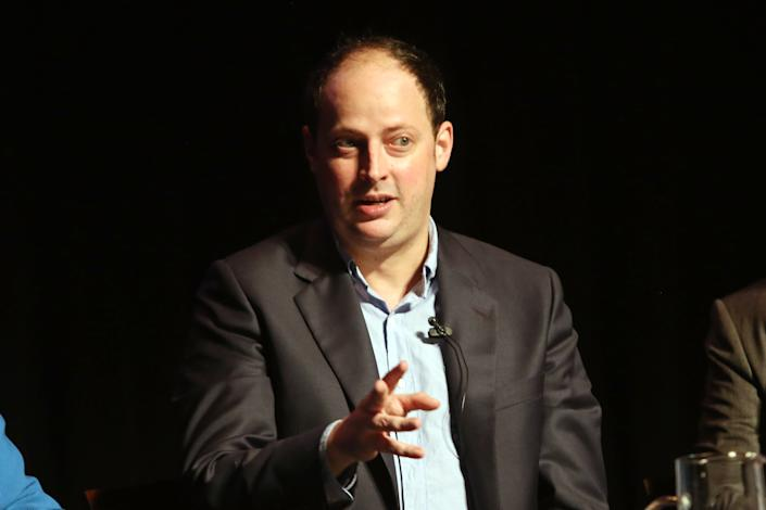 """Nate Silver speaks at the """"On the Fault Lines: Decision 2018"""" midterm elections panel in October 2018 in New York City. (Krista Kennell/Patrick McMullan via Getty Images)"""