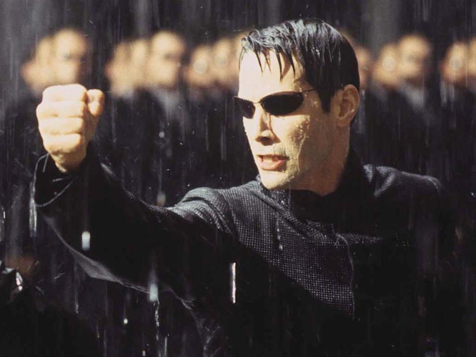"Keanu Reeves as Neo in scene from movie ""The Matrix Revolutions"", photo"