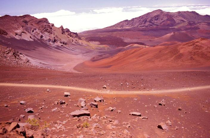 <p>The alien-looking landscape of Craters Valley in Maui's Haleakala National Park, Hawaii. // March 25, 2014</p>